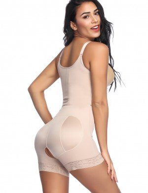 Sleek Nude Boyleg Body Shaper Adjustable Straps Waist Slimmer