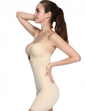 Tummy Control Firm Control Body Shaper Foundation Garment Straps