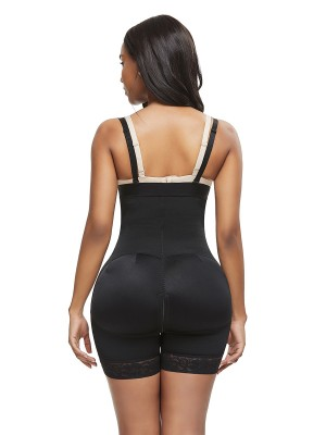 Basic Shaping Black Full Body Shaper Big Size Lace Trim