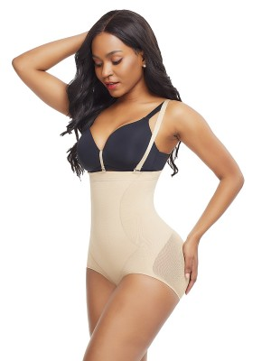 Skin Color Plus Size Seamless Shapewear Strap Buckle Instantly Slims