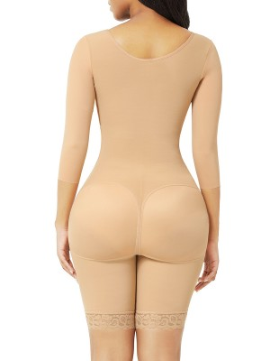 Dark Skin Butt Lifting Hooks Straps Full Body Shapewear Fitness
