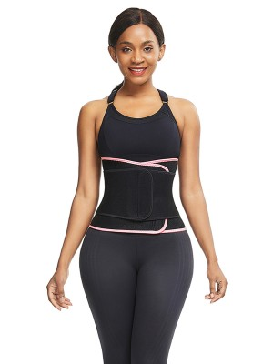 Stretchy Pink Neoprene Waist Cincher 6 Steel Bones Fat Burning