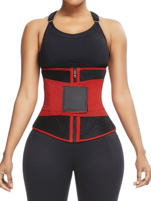 Ultra Light Red 10 Steel Bones Neoprene Waist Trainer Anti-Slip