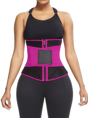 Rose Red Neoprene Waist Cincher 10 Steel Bones Sticker Basic Shaping