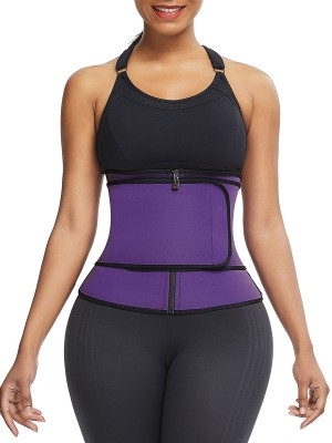 Shaping Purple Sticker Plus Size Neoprene Waist Shaper Smooth