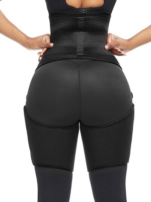 Shaping Black High Waist Adjustable Thigh Trimmer Neoprene Magicwear