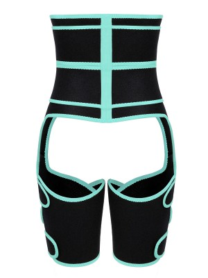 Sculpting Light Green Neoprene High Waist Thigh Shaper Sticker Hourglass