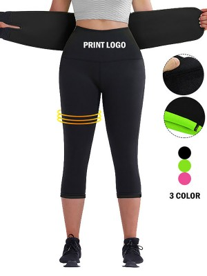 Figure Shaping Black Big Size Neoprene Shaper Pants With Belt