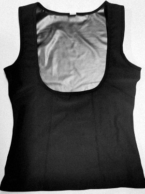 Silver Underbust PU Coating Sweat Tank Top Abdominal Control