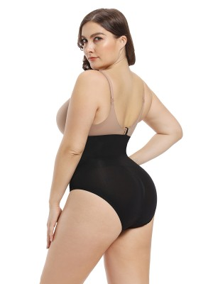 Comfort Devotion Black Sheer Mesh Seamless Panty High Cut Figure Sculpting