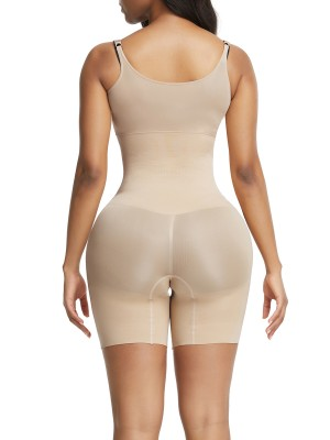 Appealing Skin Color Plus Size Body Shaper High Rise Seamless Instantly Slims