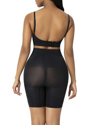 Black High Waist Butt Lifter Shapewear Shorts Abdominal Control