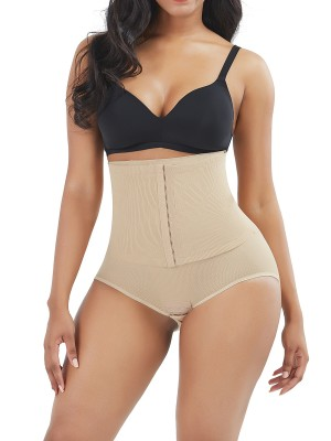 Slimmed Skin Color 3 Rows Hooks Panty Shaper Underbust Medium Compression