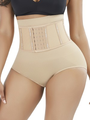 Supper Fashion Skin Color Shaper Shorts 4 Steel Bones High Waist Seamless