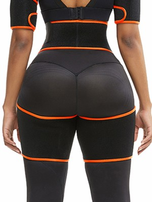 Body Sculpting Orange Neoprene Thigh Shaper High Waist Underwear