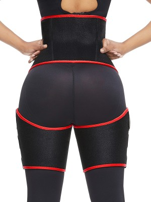 Medium Control Red Neoprene Thigh Trimmer Tummy Control Comfort Revolution