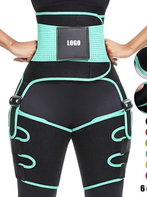 Light Green Neoprene Thigh Trimmer High Waist Tummy Control