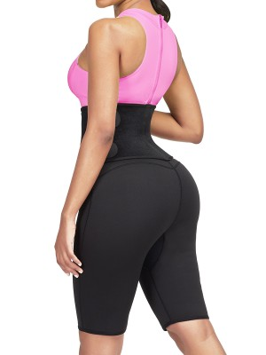 Sleek Curves Rose Red Sticker High Rise Zipper Thigh Shaper High Power