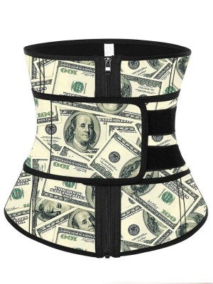 Pre-sale Latex Money Waist Trainer Belt With Zip Curve-Creating