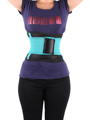 Enthralling Green Neoprene Waist Trainer Belt Sticker Cellulite Reducing