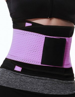 Sweat Band Tummy Control Purple Tight Fitting Waist Body Shaper