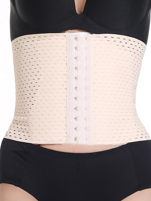 Elegant White 3 Rows Hooks Waist Trainer Big Size Beautiful Addition