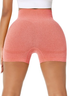 Sweety Orange Running Shorts High Rise Thigh Length For Female Runner