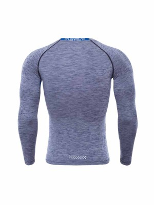 Post Surgery Gray Sports Top Full Sleeve Crew Neck For Running Boy