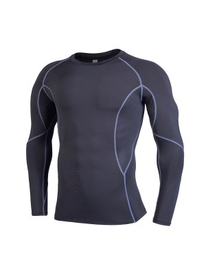 Enticing Black Men's Running Top Mesh Full Sleeve High Quality