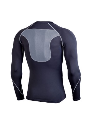 Splendid Gray Running Top Long Sleeve Crew Neck Sensual Silhouette