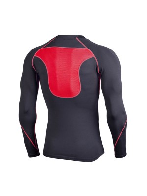 Quick Drying Red Sports Top Moisture Wicking Mesh Kinetic Fashion