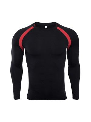 Uniquely Red Athletic Top Contrast Color Crew Neck Fashion Ideas