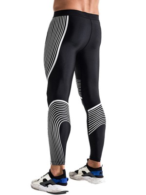 Snappy White Large Size Male Leggings Full Length Activewear