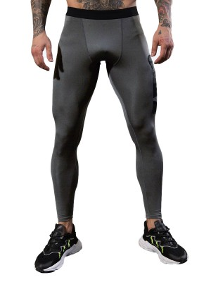 Cool Boy Light Gray Men's Fitness Pants Ankle Length For Running