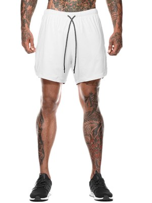Flattering White High Waist Men's Sports Bottom Ultra Cool