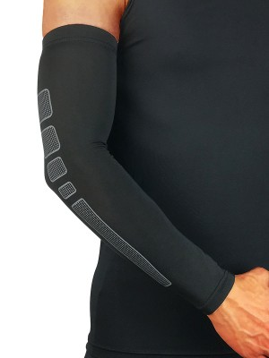 Well-Suited Gray Fitness Elbow Barcer Compression Support Running