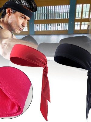 Breathable Solid Color Sports Sweat Headband