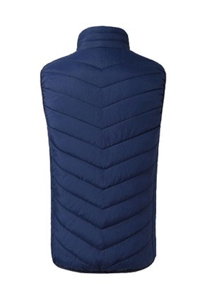 Alluring Blue Electric Heated USB Zipper Vest Soft