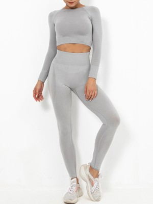 Light Pink Wide Waistband Full Sleeve Athletic Suit Casual Clothes