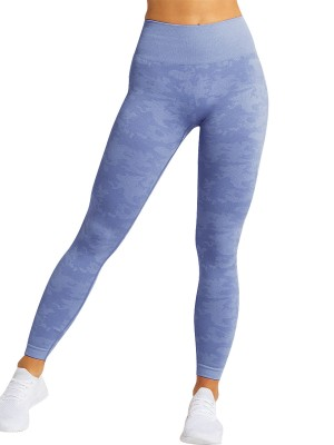 Super Cool Royal Blue Seamless Yoga Leggings Ankle Length Wholesale