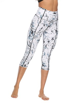 Exquisite High Waist 3/4 Length Yoga Legging Women's Apparel