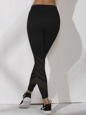 Dazzles Black 7/8 Length Seamless Yoga Pants High Rise Superior Quality