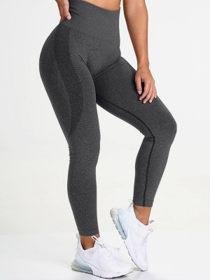 Cheeky Gray Yoga Legging Knit Seamless High Rise For Women