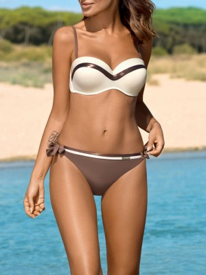 Good Bikini Patchwork Bow-Knot Open Back For Every Occasion