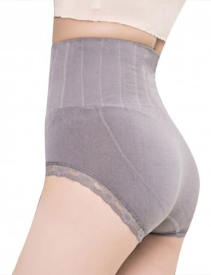 Sultry Ribbed Lace Butt Lifter High Rise Woman High Grade