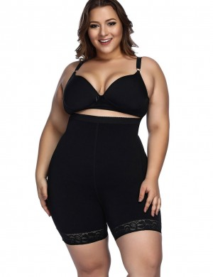 Figure Shaper Black Anti-Curl Material Shapewear Butt Enhancer High Impact