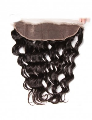 Brazilian Human Hair Water Wave Lace Frontal 13x4 Free Part