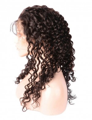 14-28 Inch Deep Curly 360 Lace Wig Pre-Plucked With Baby Hair