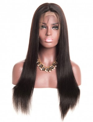 14-30 Inch Straight Lace Front Natural Color Wig Human Virgin Hair
