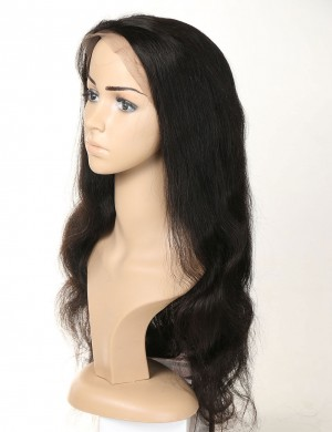 Body Wave Human Virgin Hair Full Lace Wigs Pre-Plucked Baby Hair